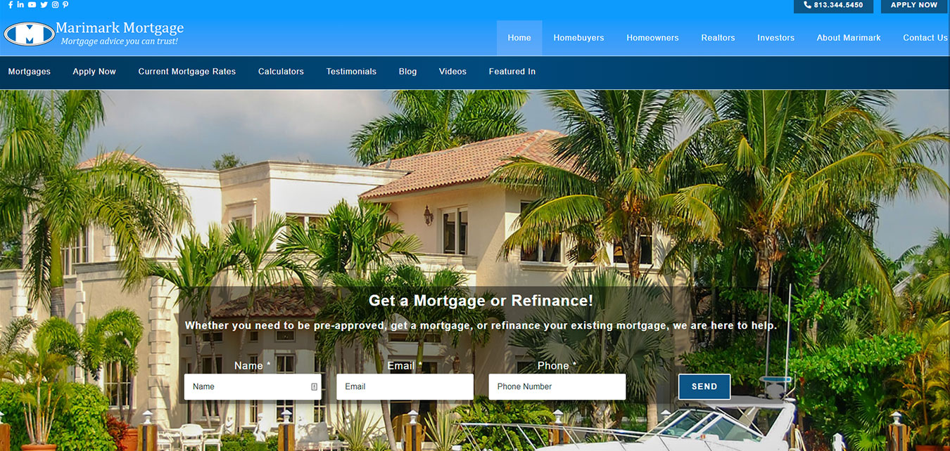 MarimarkMortgage.com screenshot, mortgage broker in Tampa, Fl